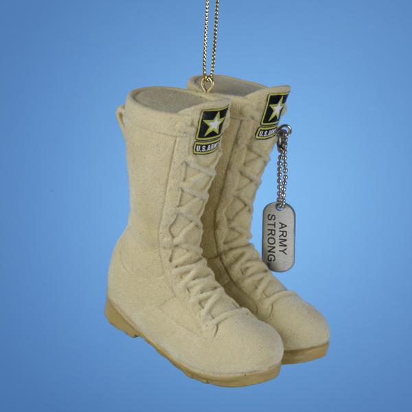 Army Combat Boots Ornament