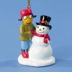 Arthur with Snowman Ornament