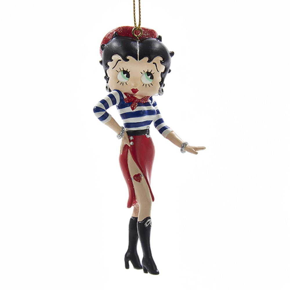 Frenchie Betty Boop Ornament