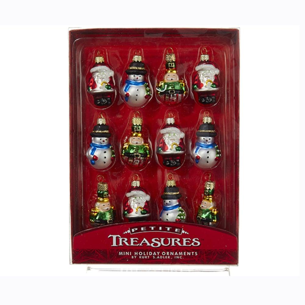 Mini Glass Ornament Set of 12