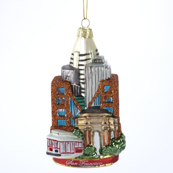 San Francisco Glass Ornament