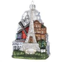 Paris City Glass Ornament