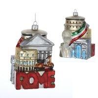 Rome City Scape Glass Ornament