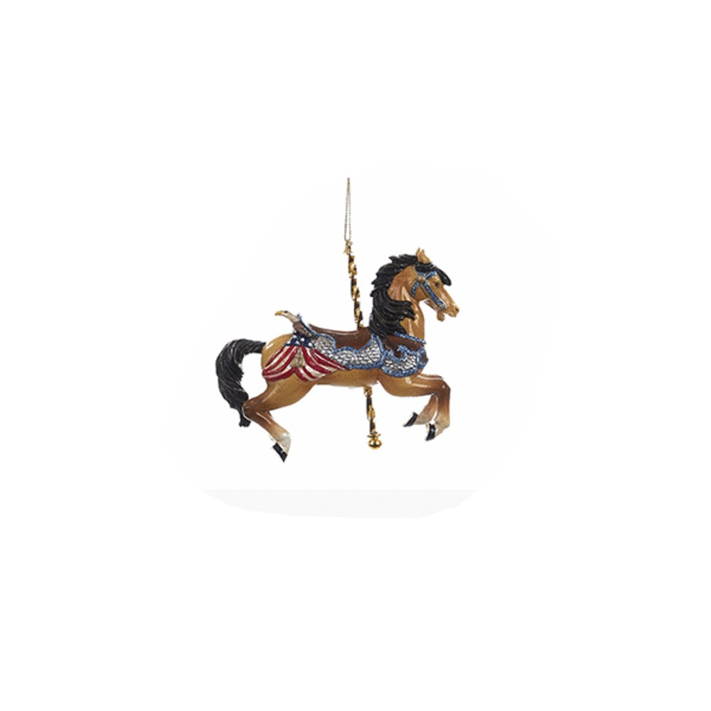Brown Horse Carousel Ornament