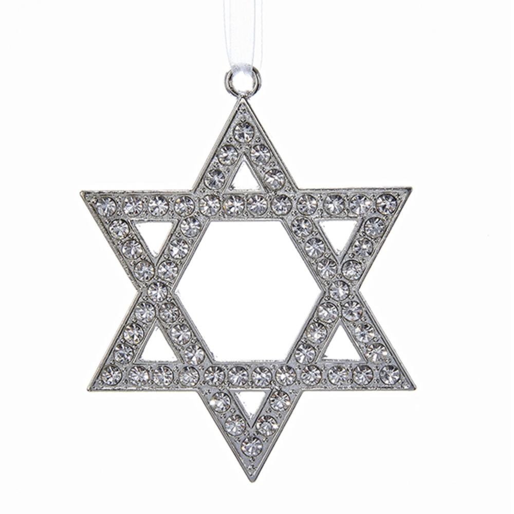 Star of David Silver Ornament