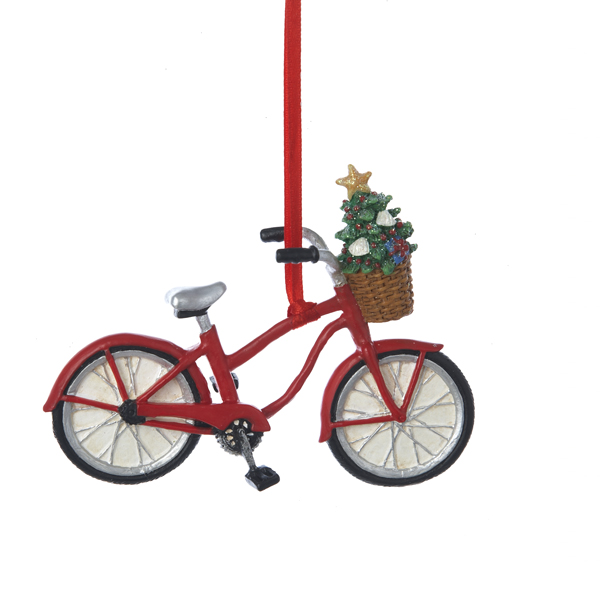 Bicycle With Basket Ornament