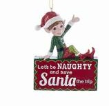 """LET'S BE NAUGHTY AND SAVE SANTA THE TRIP"""