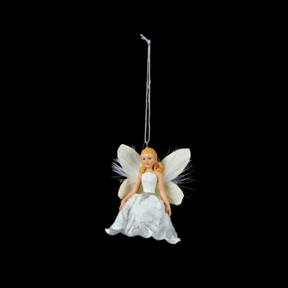 White Angel With Her Arms Down Ornament