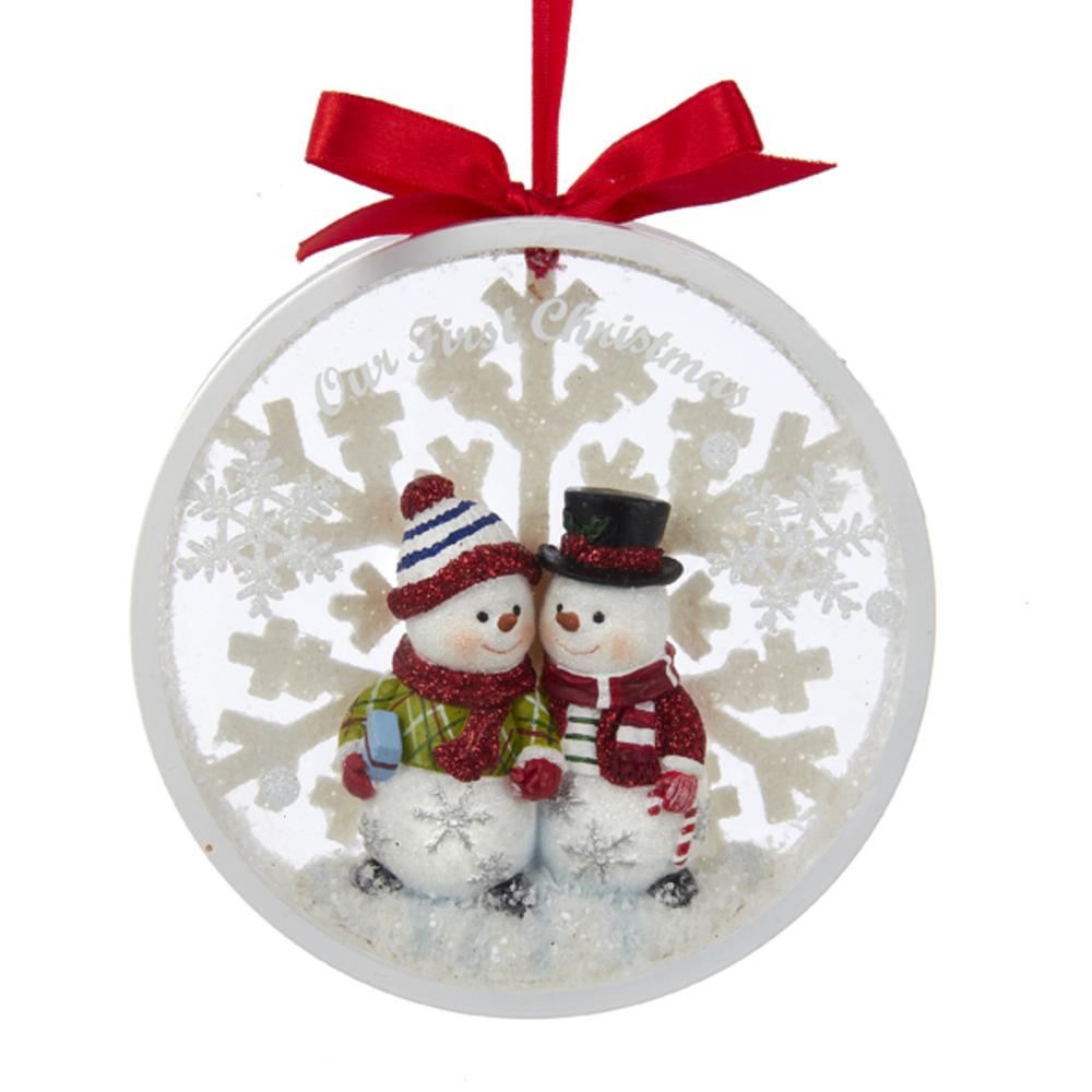 Snowcouple First Christmas Ornament