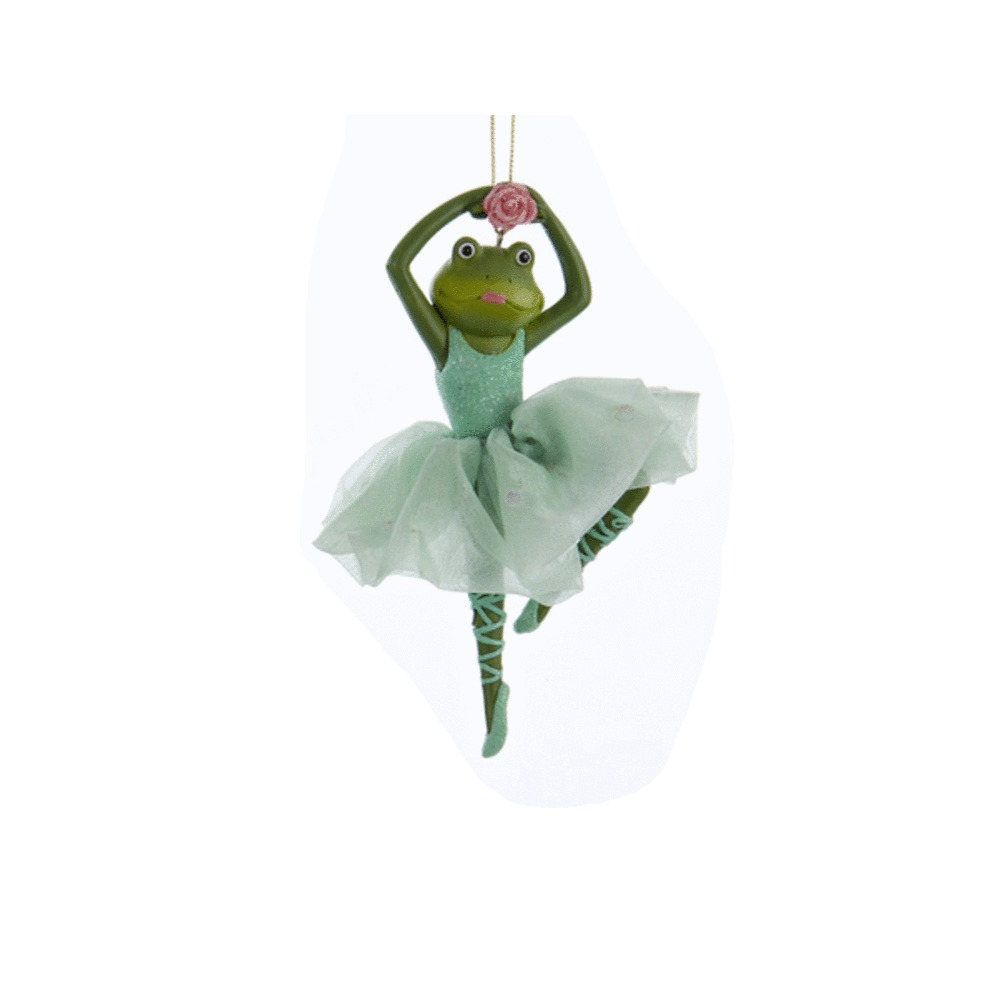 Green Ballet Frog Ornament
