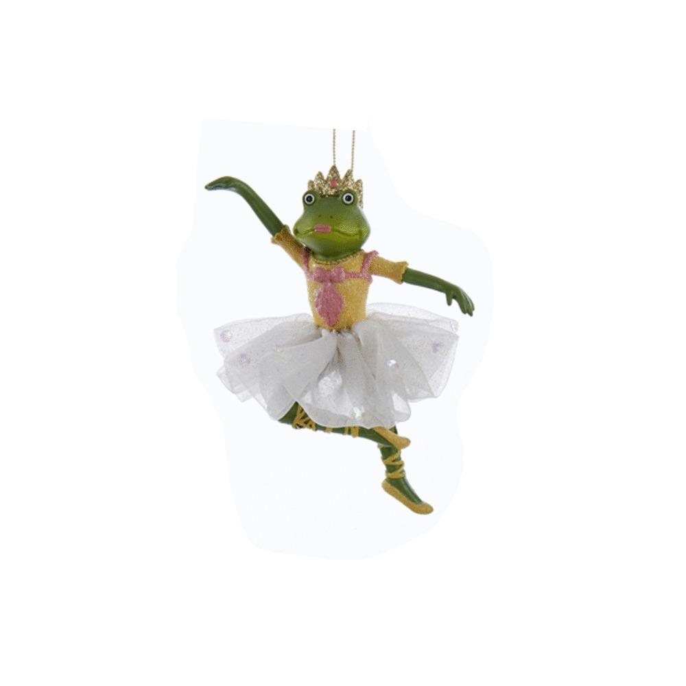 White Ballet Frog Ornament
