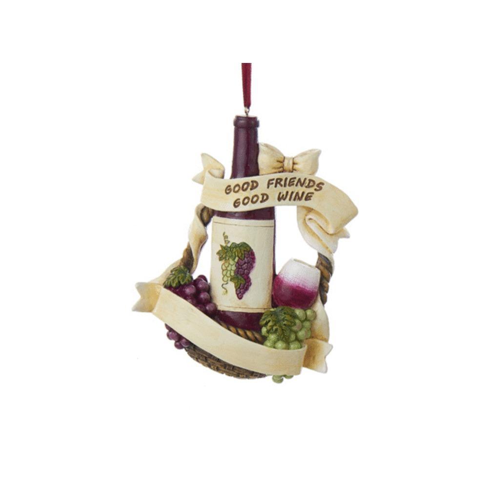 Good Friends Wine Ornament