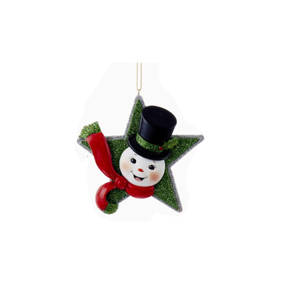 Snowman Star Orn