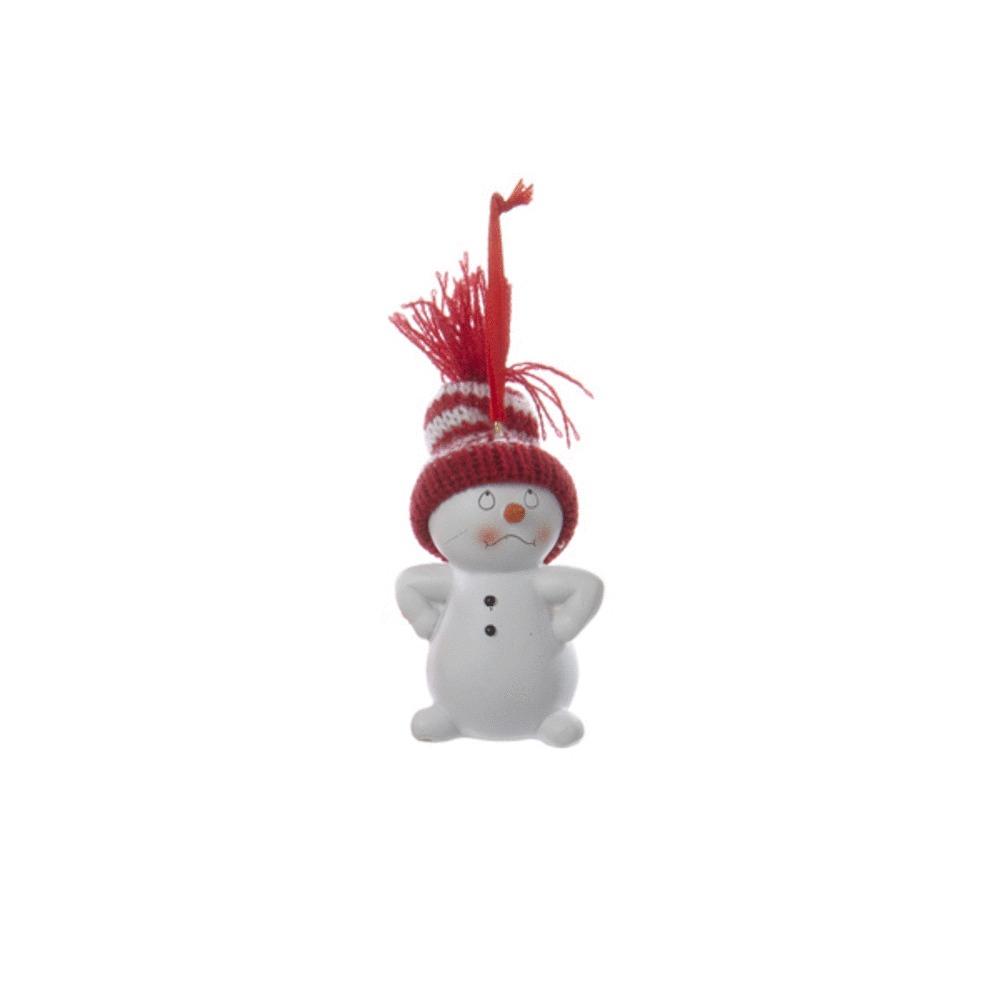 Hands On Hips Snowman Ornament