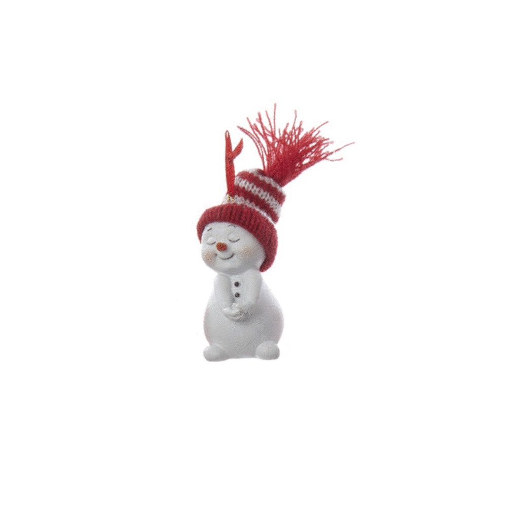 Hands in Front Snowman Ornament