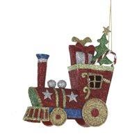 Glitter Train Ornament