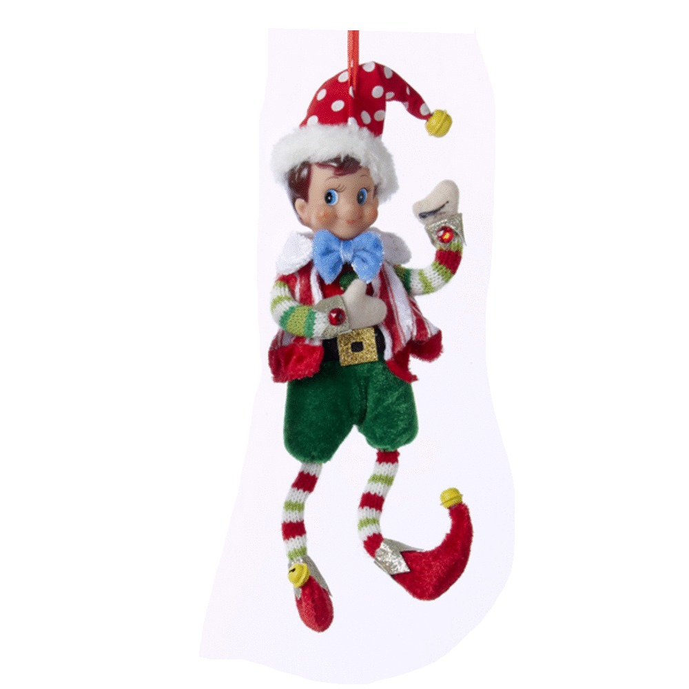 Elf With Bowtie Ornament