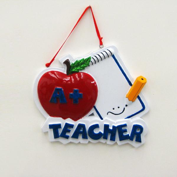Teacher Apple Ornament