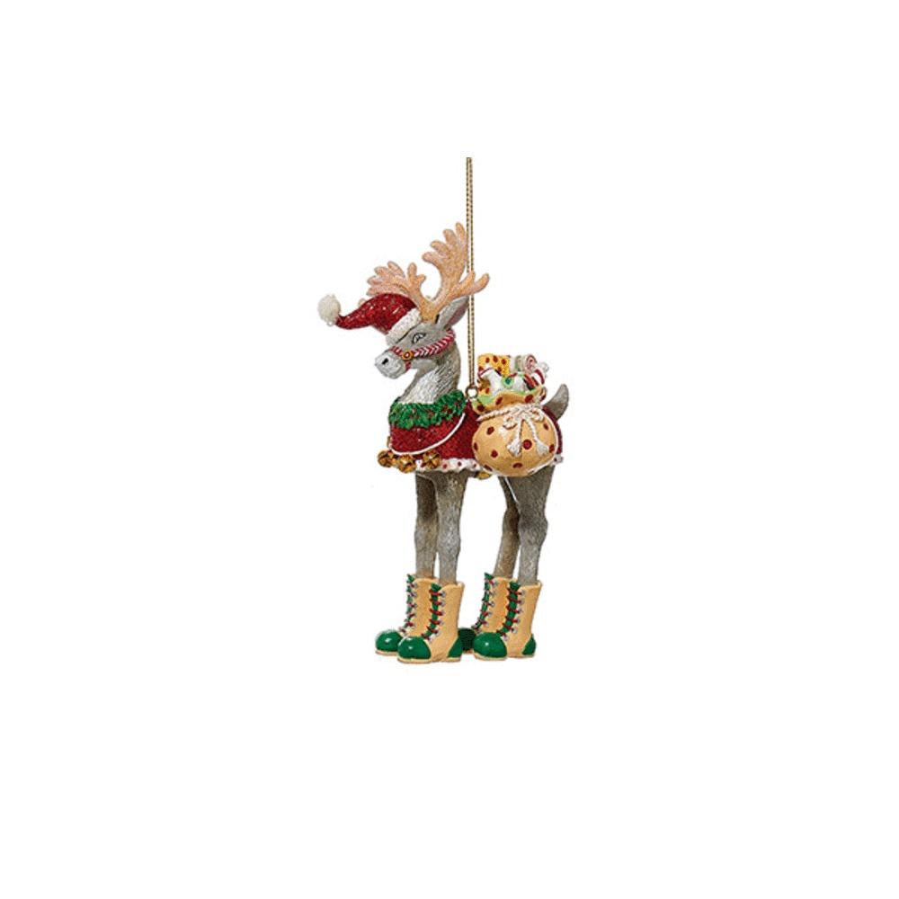 Christmas Deer With Toy Sack