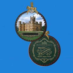 "Downton Abbey Shadow Box ""Merry Christmas"" Ornament"