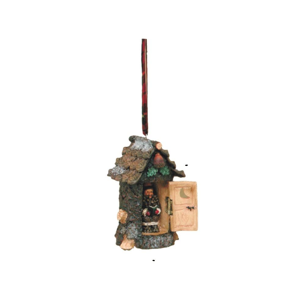 Santa Outhouse Ornament