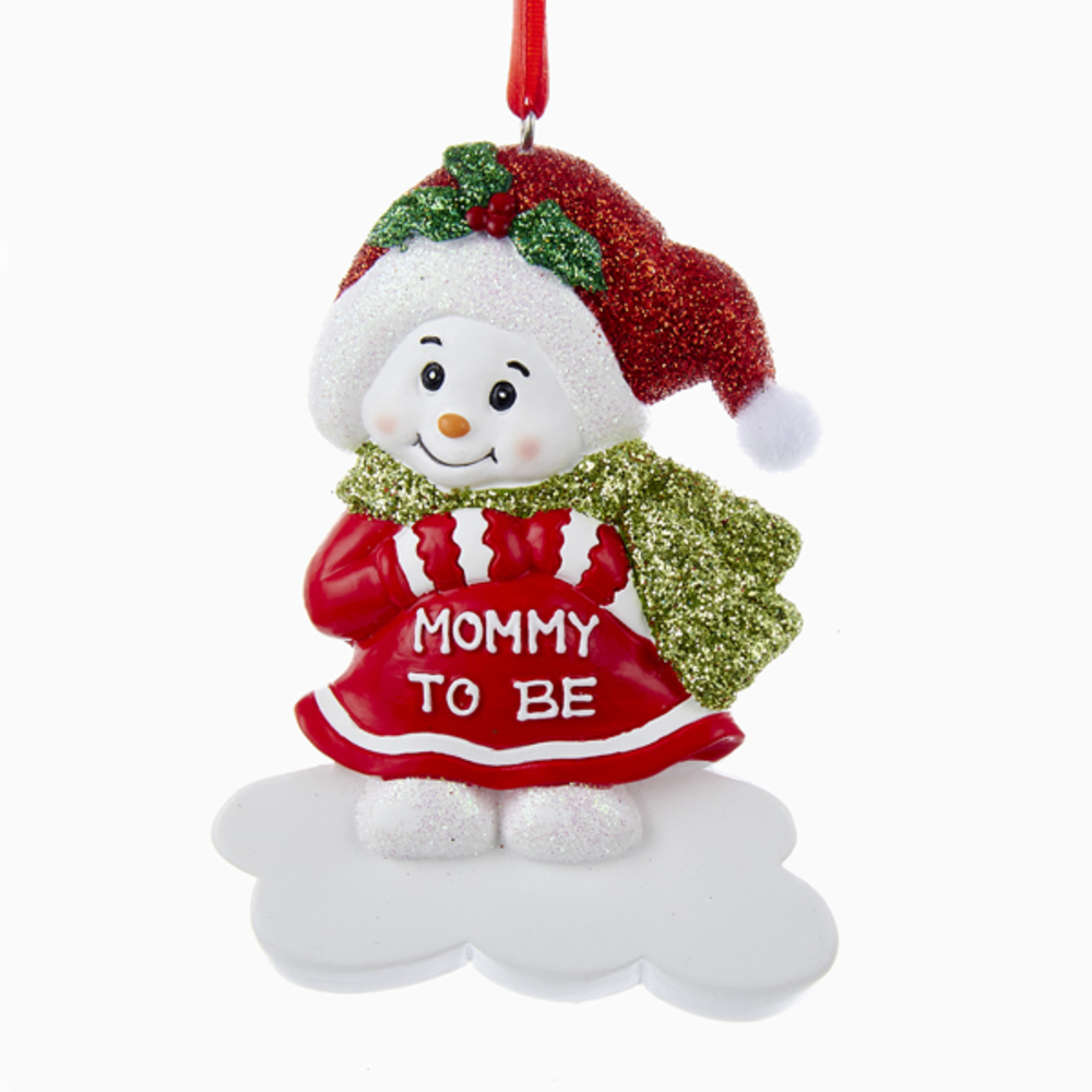 Mommy To Be Snowman Ornament