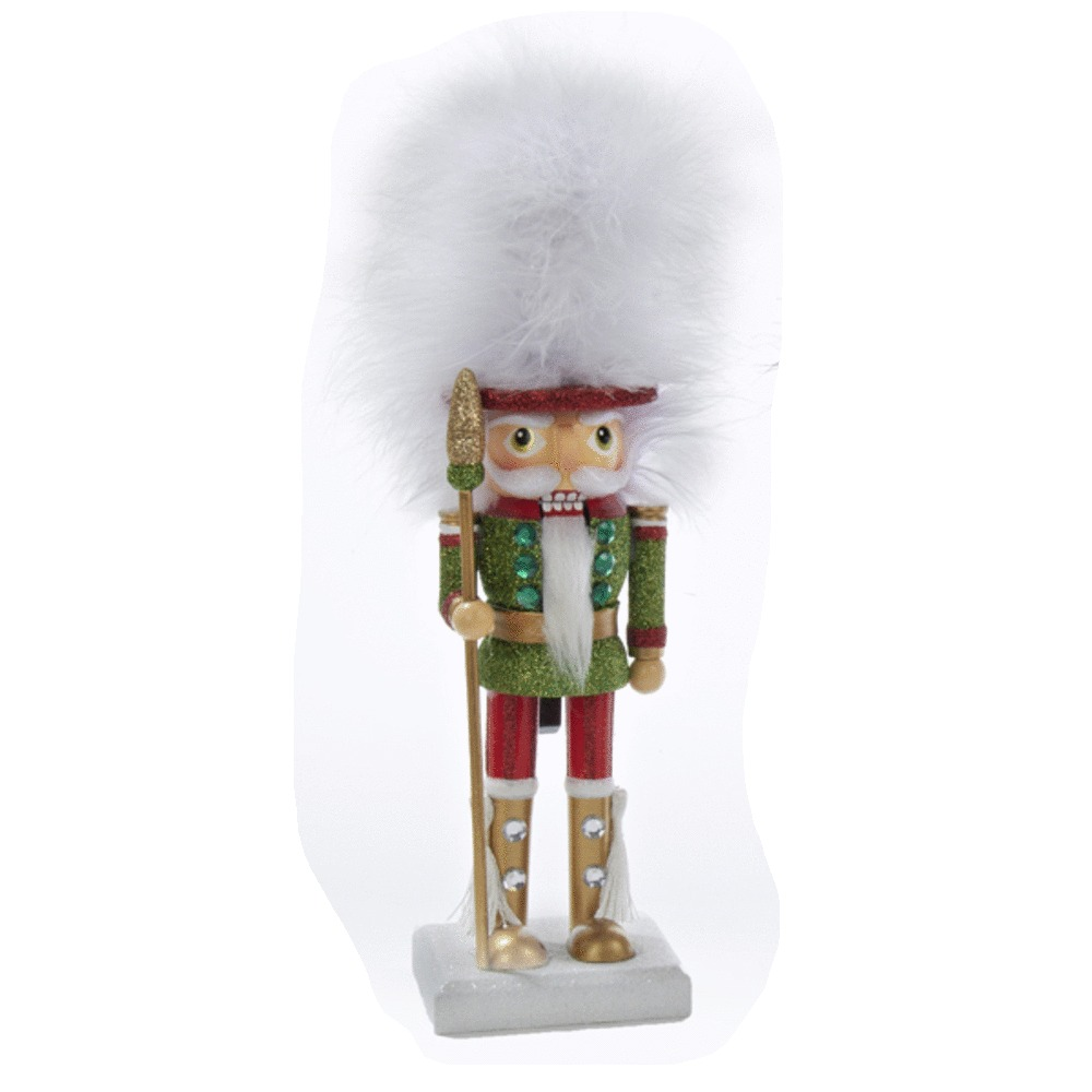 Furry White Hat Nutcracker