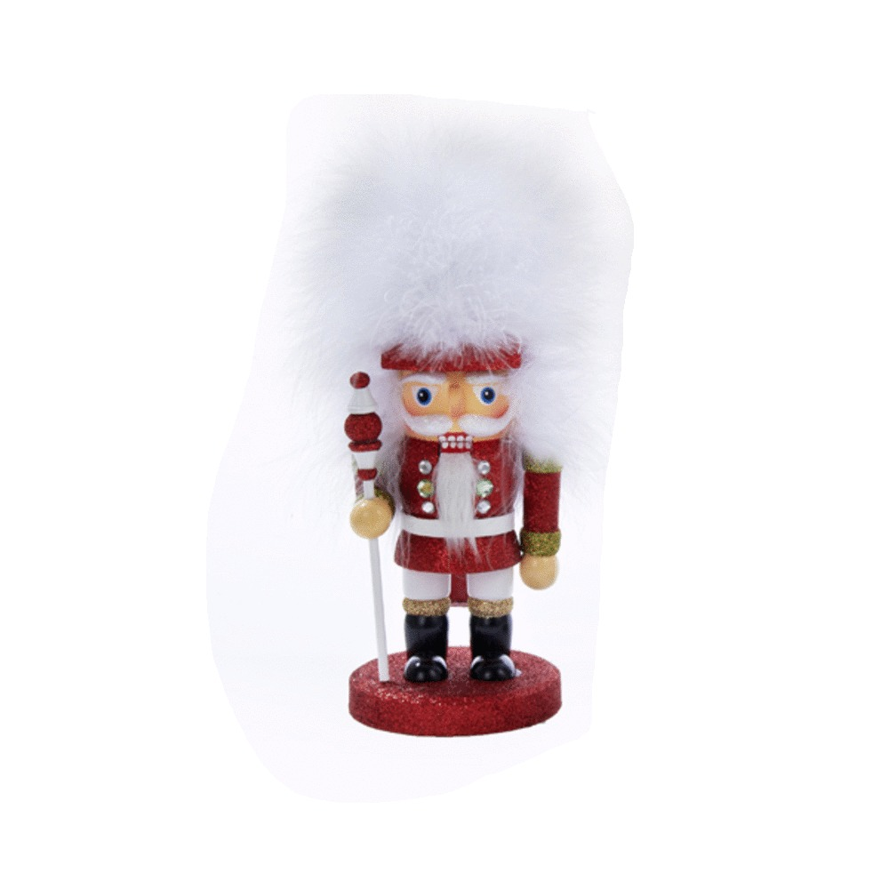 Red Feather Hat Nutcracker