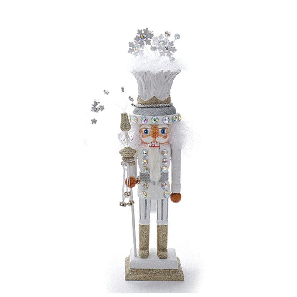 White Snowflake Nutcracker