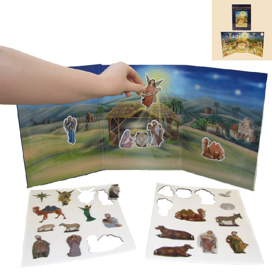 """The Story of Christmas"" - Nativity Advent Book with Magnetic Figures"