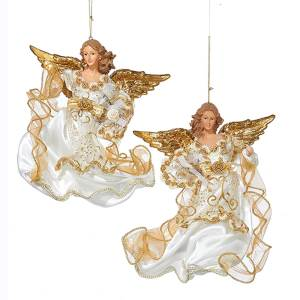 Ivory and Gold Flying Angel