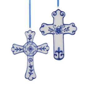 Porcelain Blue Cross