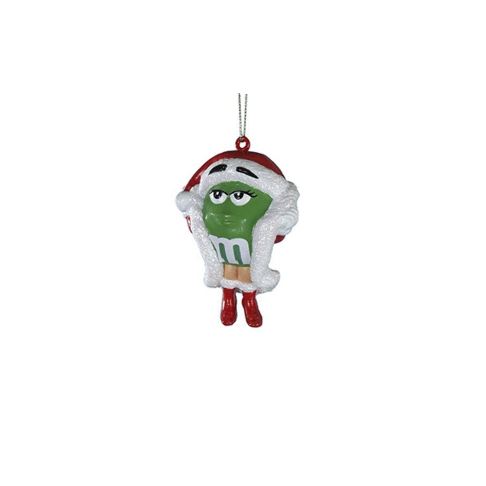 Green M&M Santa With Gift