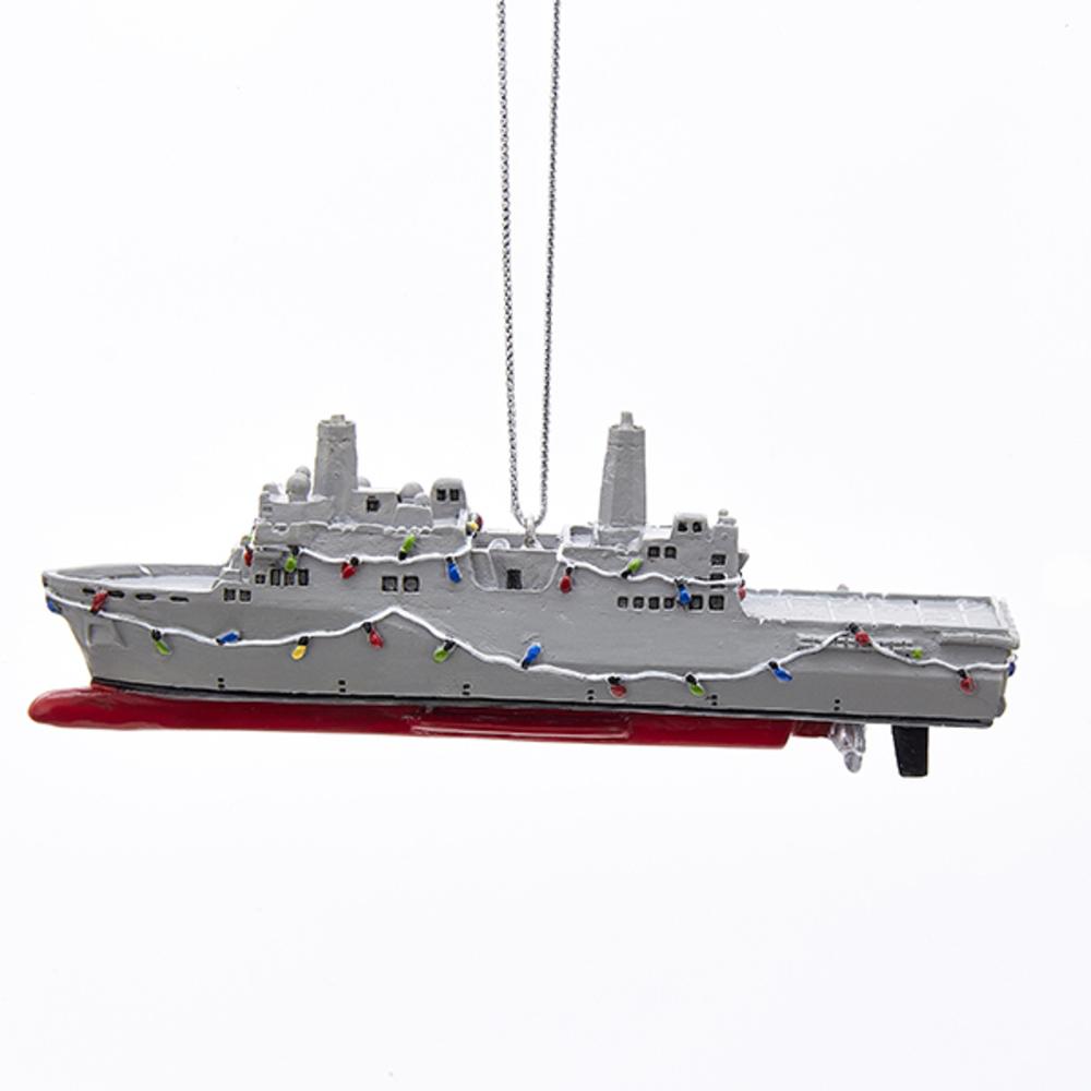 Navy Ship Ornament