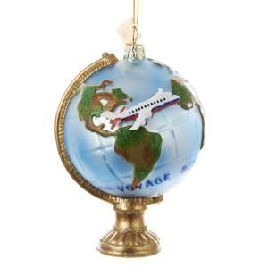GLOBE WITH AIR PLANE