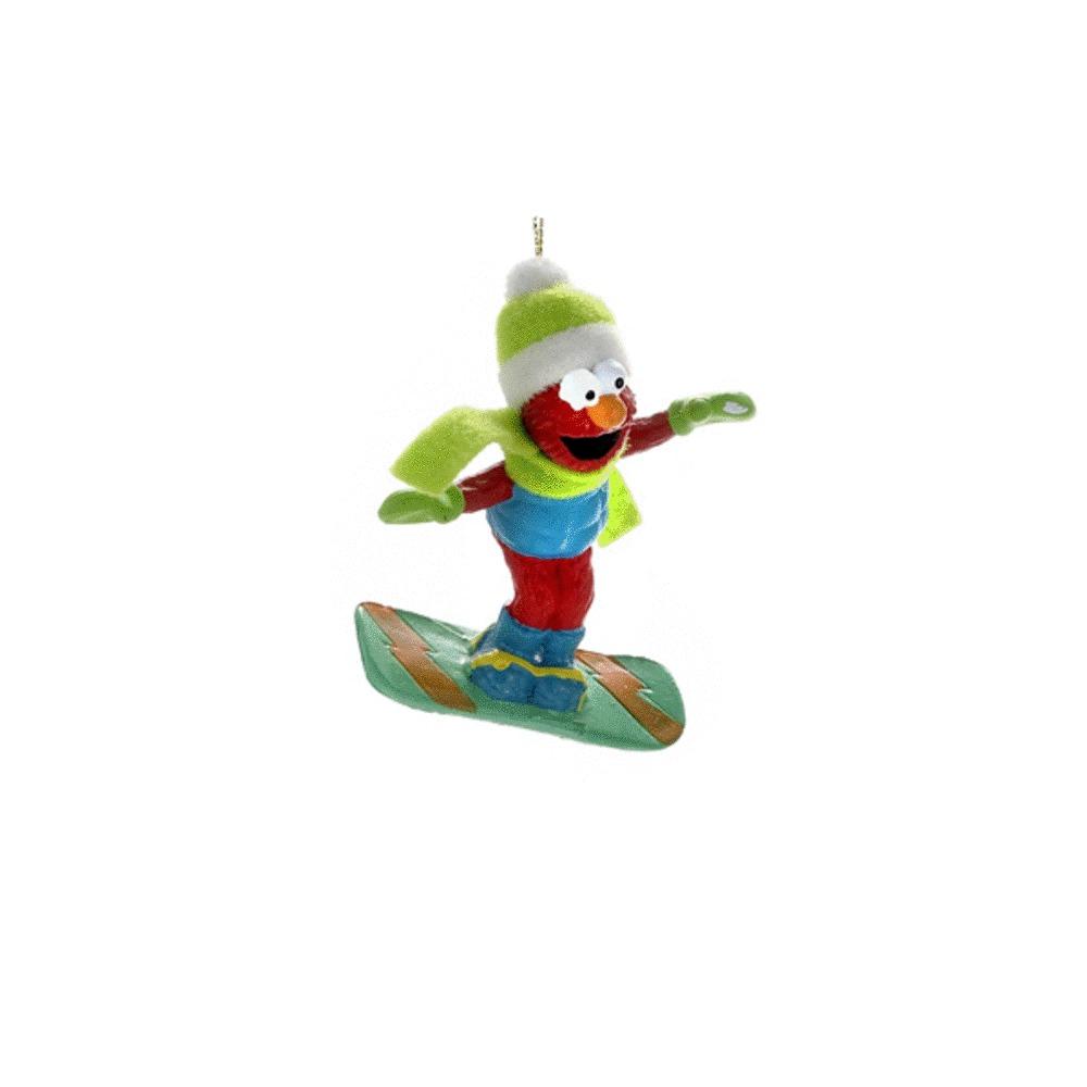Elmo on Snowboard Ornament