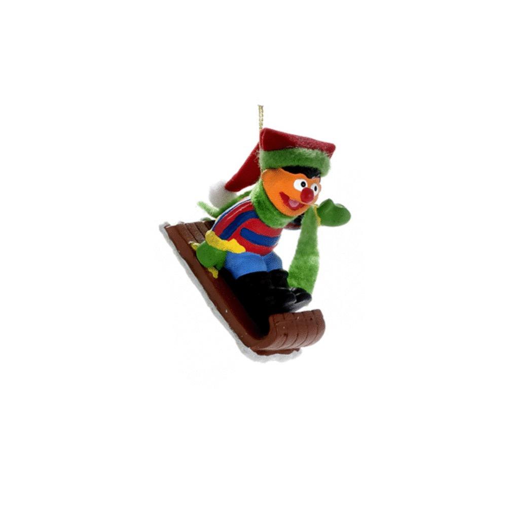 Ernie on Sled Ornament