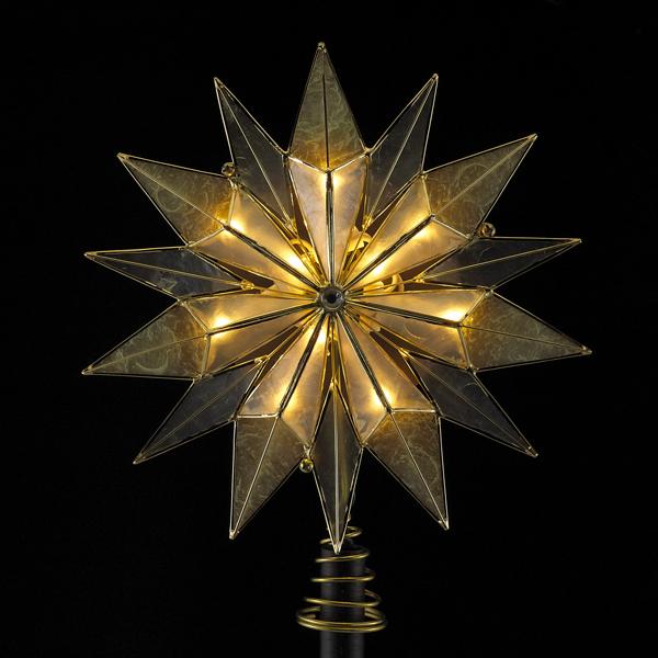 Lit Capiz Star Treetopper 9 Inch