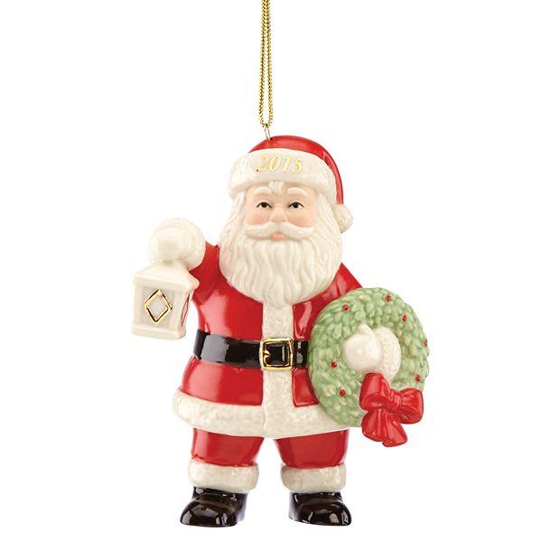 Lenox classics 853120 lighting the way santa ornament - Ornament tapete weiay ...