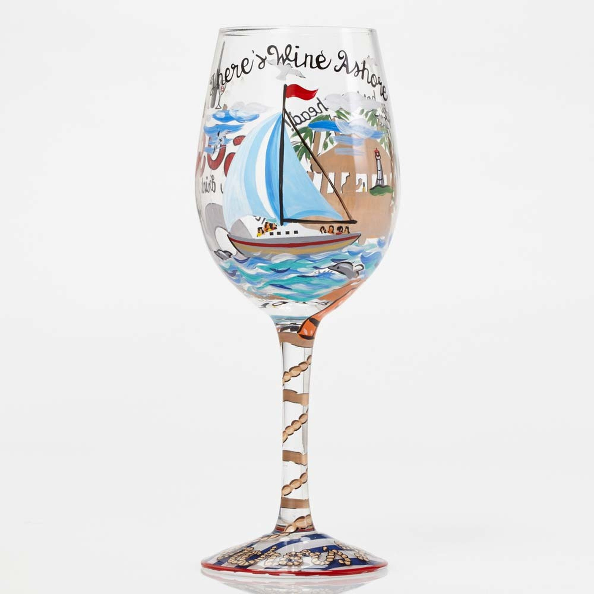 Anchors Away - Wine Glass