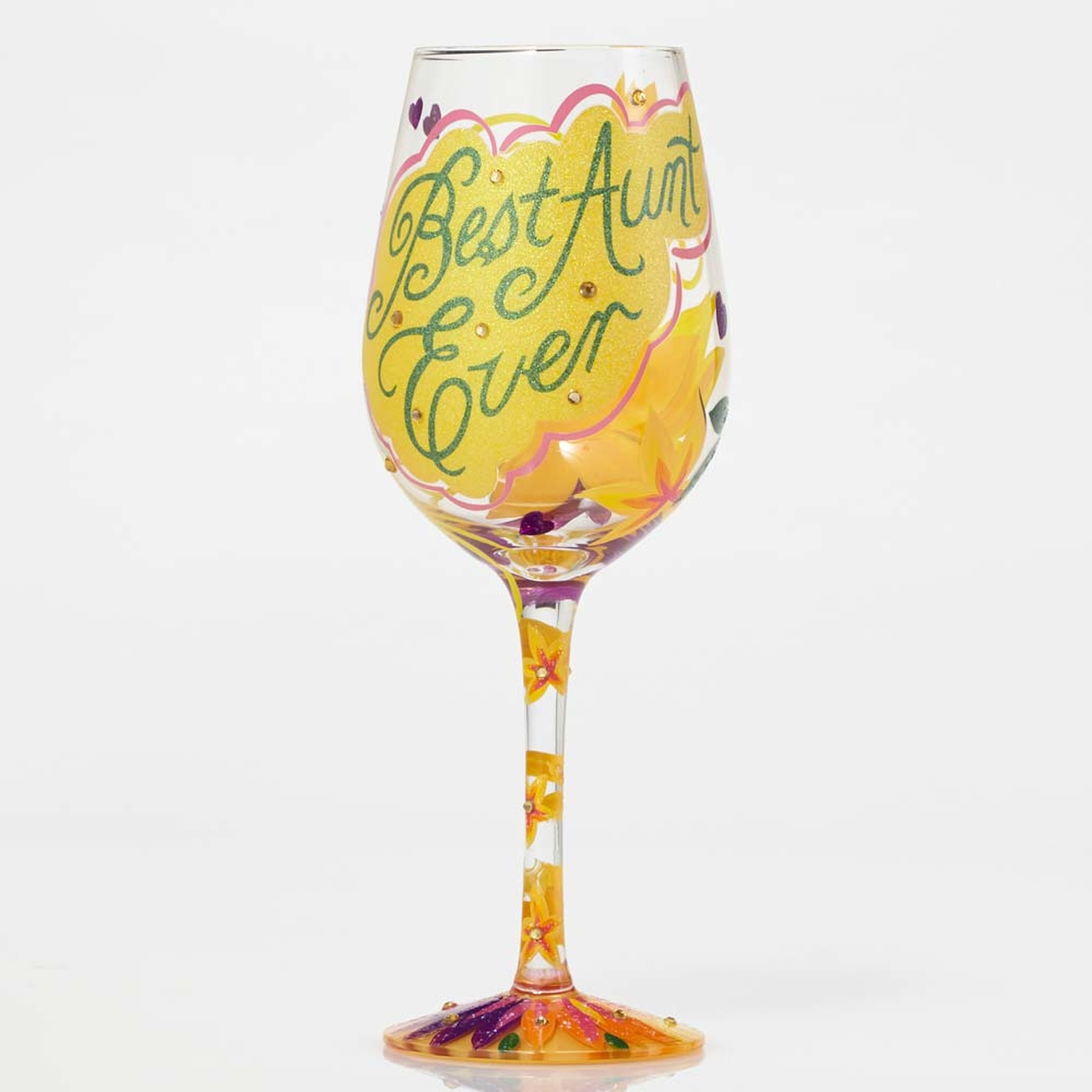 Best Aunt Ever - Wine Glass