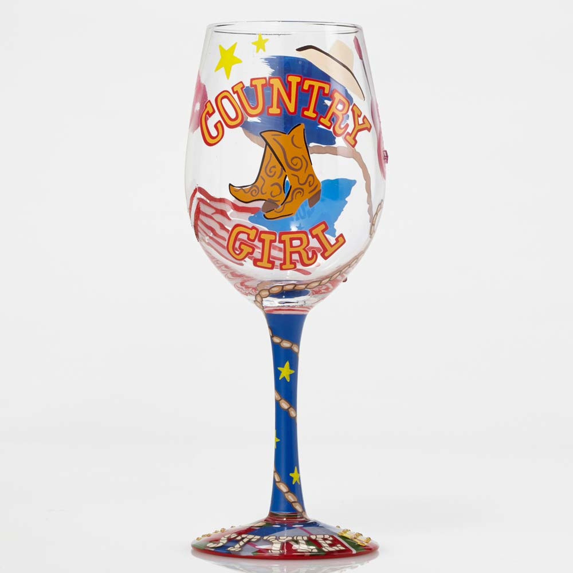 Country Girl - Wine Glass