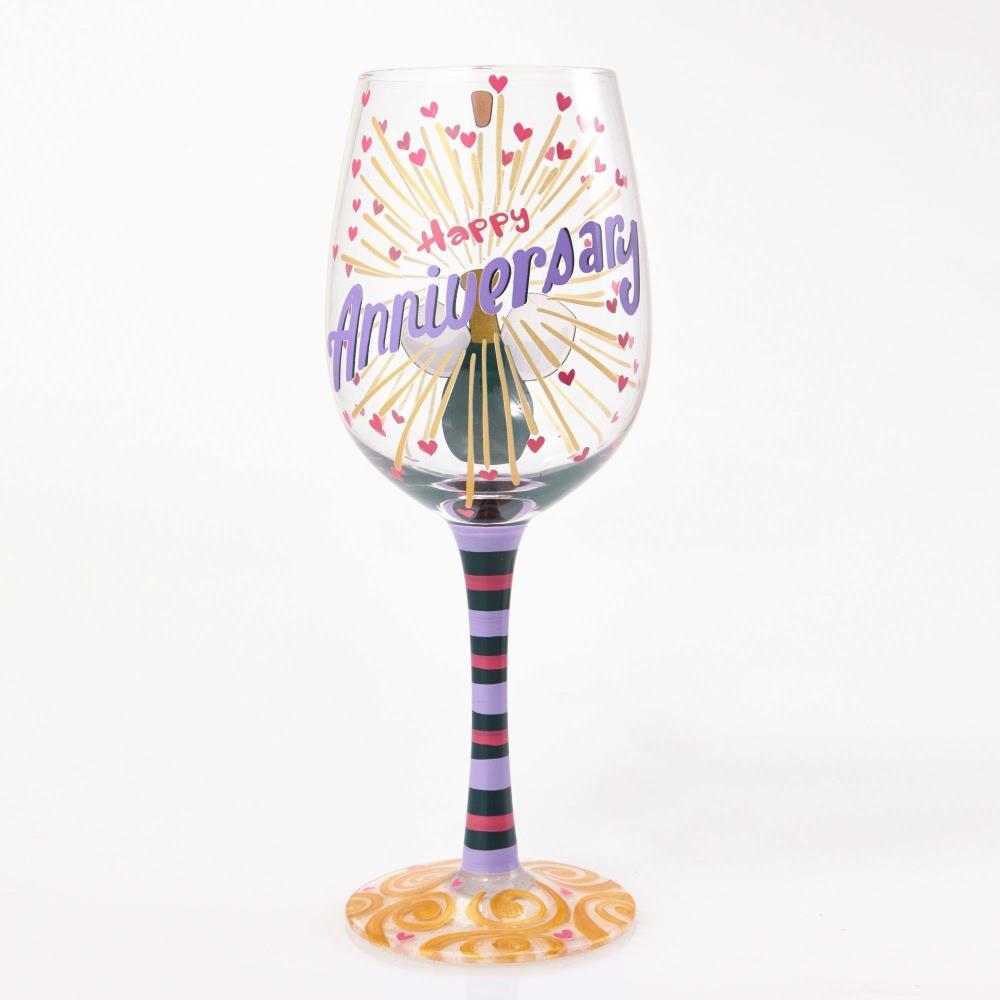 Happy Anniversary Glass