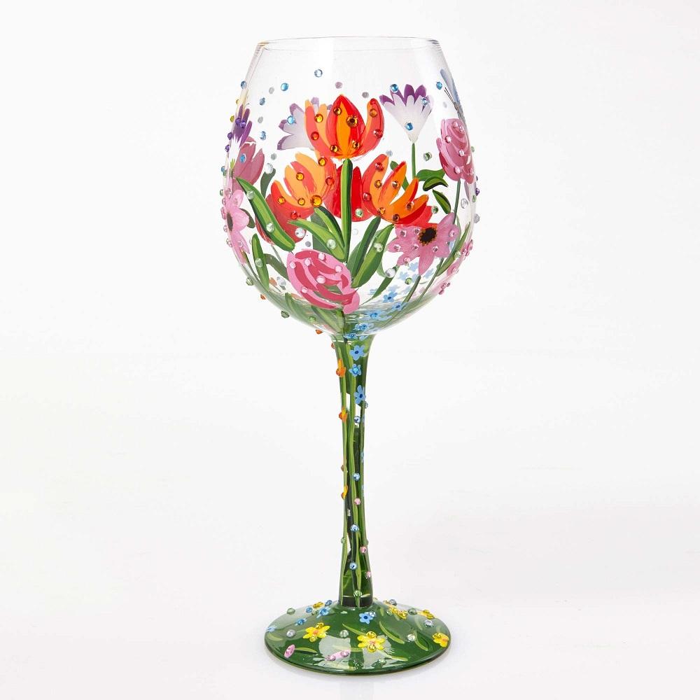 Spring Bling Wine Glass