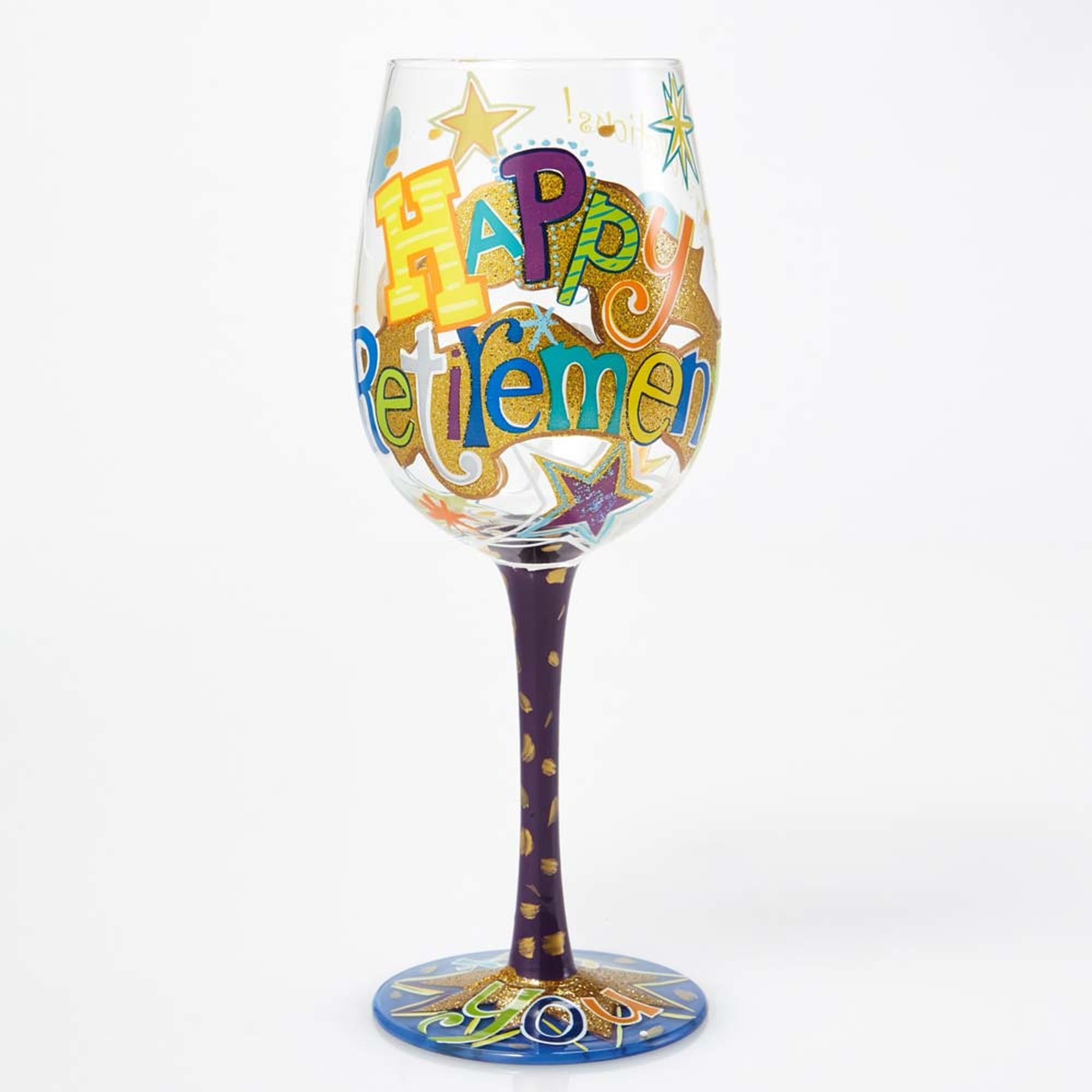 Happy Retirement - Wine Glass