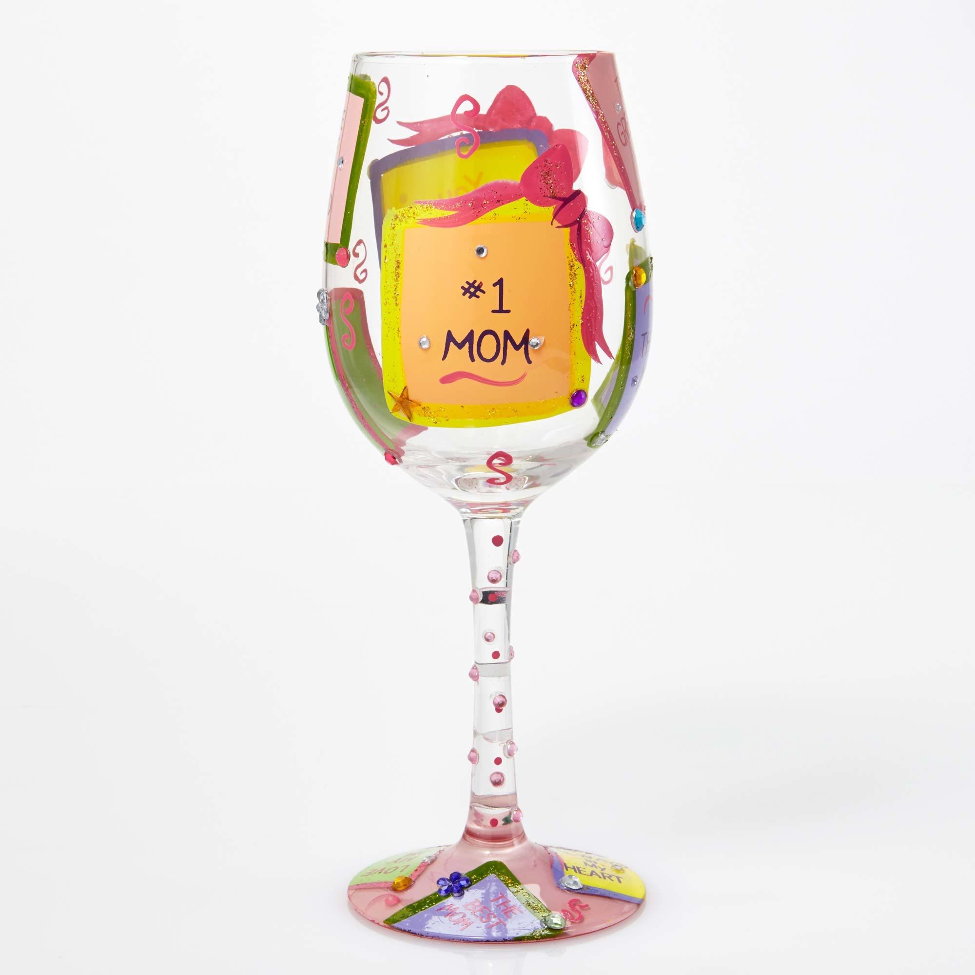 #1 Mom - Wine Glass