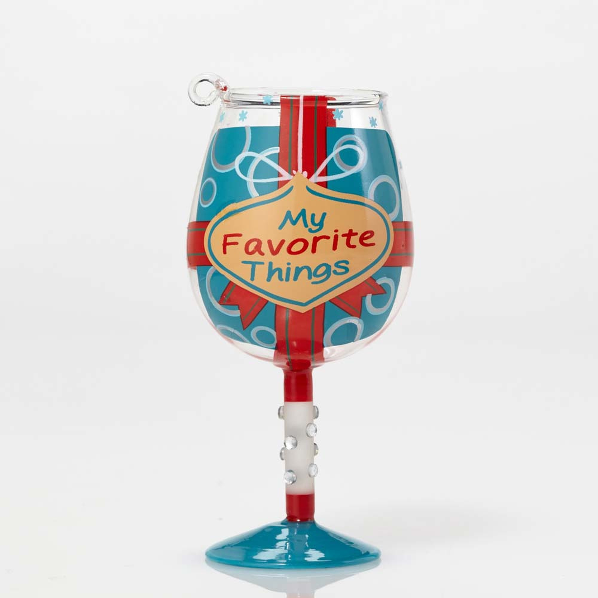 Mini Wine Glass Ornament - My Favorite Gifts And Wine
