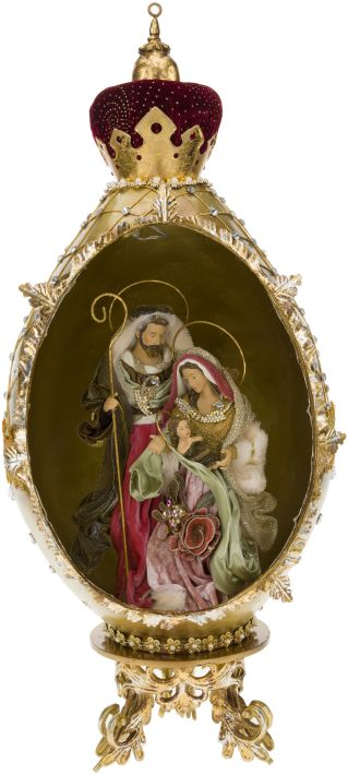 Faberge Holy Family Décor