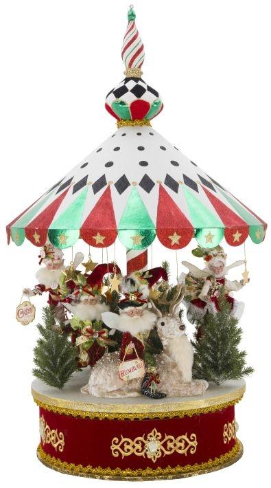 mark roberts 5185656 pepermint big top carousel - Mark Roberts Christmas