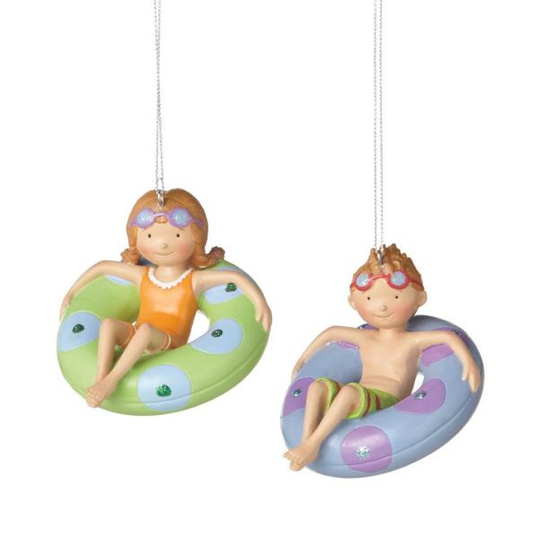 BOY CHILD IN INNER TUBE